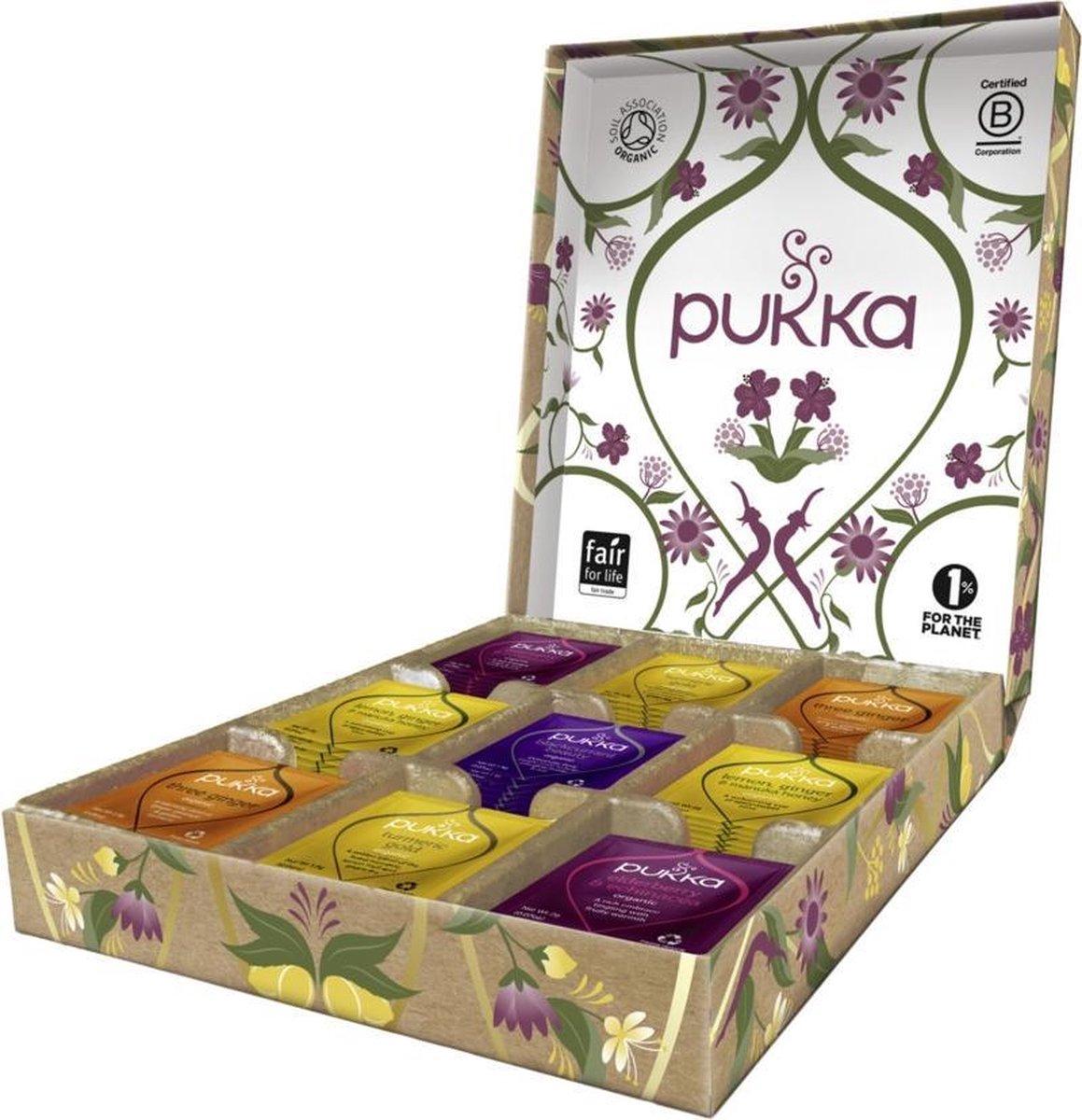 Pukka Support Theeselectie Geschenkdoos - 5 blends biologische kruidenthee - 45 zakjes