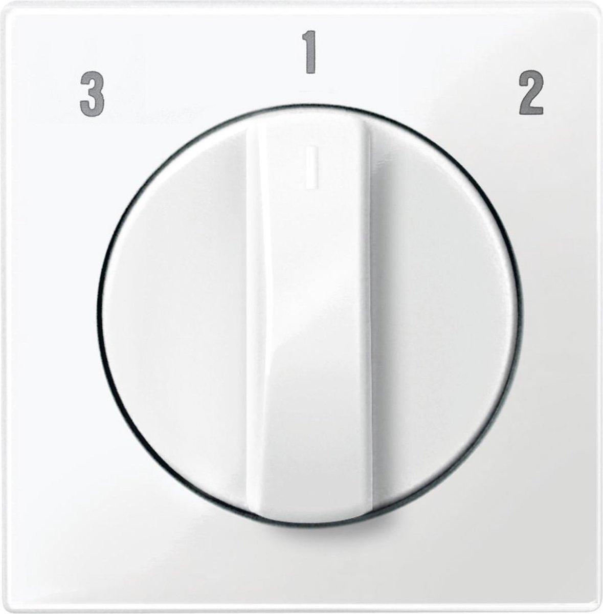 Schneider Electric Merten System M centraalplaat voor ventilatorschakelaar 3-standen wit