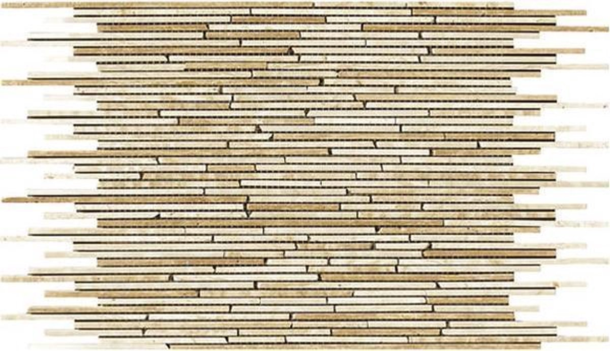 Alfa Mosaico Mozaiek Mármol mix beige marmer sticks (interlock)  -  Mix, Beige Prijs per 1 matje. - Alfa Mosaico