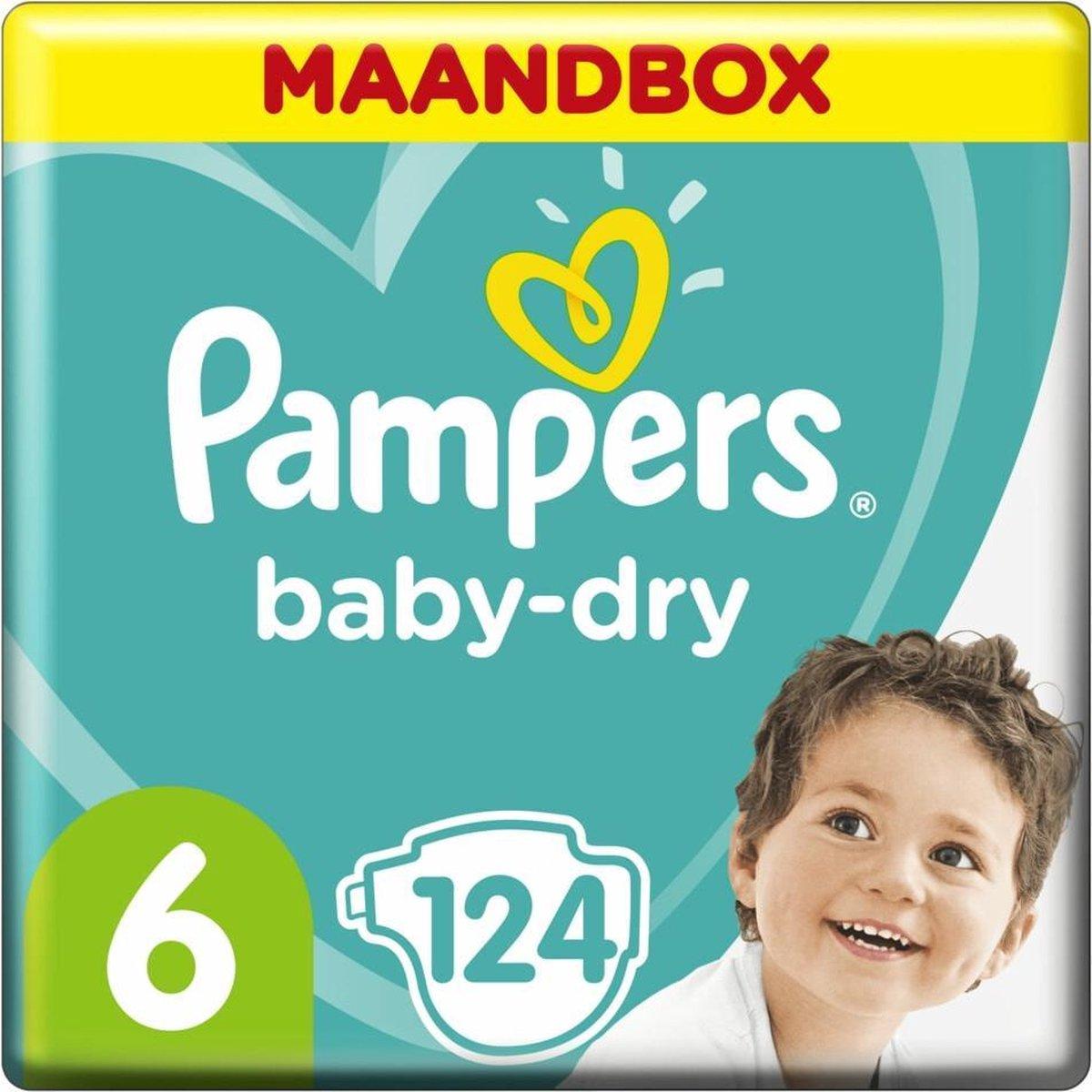 Pampers Baby Dry Luiers Maat 6 - 126 Luiers Maandbox