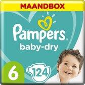 Pampers Baby-Dry Luiers - Maat 6 (13+ kg) - 124 stuks - Maandbox