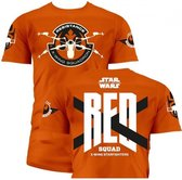 STAR WARS 7 - T-Shirt Red Squad - Orange (S)