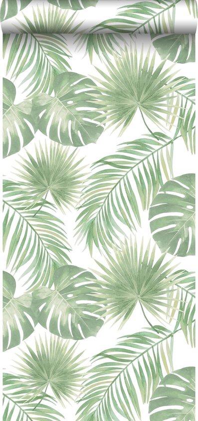 ESTAhome behangpapier tropische bladeren mintgroen - 139012