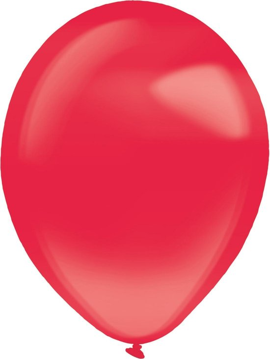 Amscan Ballonnen Crystal 28 Cm Latex Rood 50 Stuks