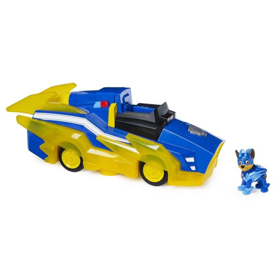 Afbeelding van PAW Patrol Mighty Pups Charged Up Chase Transformerend Voertuig Hovercraft 36 cm speelgoed