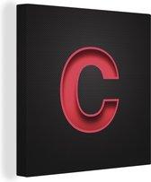 Een illustratie van de letter C canvas 90x90 cm - Foto print op Canvas schilderij (Wanddecoratie woonkamer / slaapkamer)
