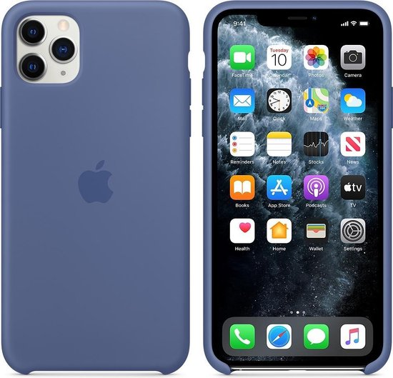 Apple Silicone Backcover iPhone 11 Pro Max hoesje - Linen Blue