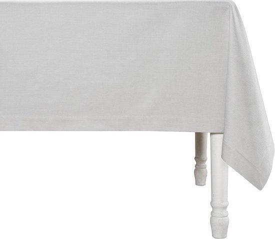 De Witte Lietaer Tafellaken Kalahari 60x170 Cm Katoen Grijs/wit