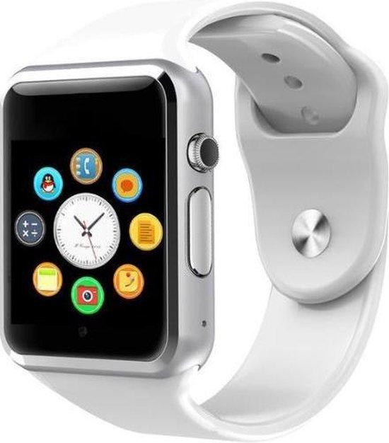 SAMMIT® Heren en Dames Smartwatch Wit met StappenTeller- Met Meldingen- Met Belfunctie en Berichten- Intelligente Smartwatch Dames en Heren- Smartwatch Android en Iphone- Sporthorloge