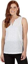 Regatta Jadine Coolweave-Katoenen Mouwloos Shirt Voor Dames Wit