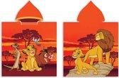 Disney Poncho Lion King 55 X 110 Cm Katoen Oranje/bruin