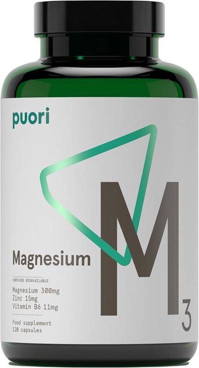 Puori M3 Magnesium Supplement 180 Capsules
