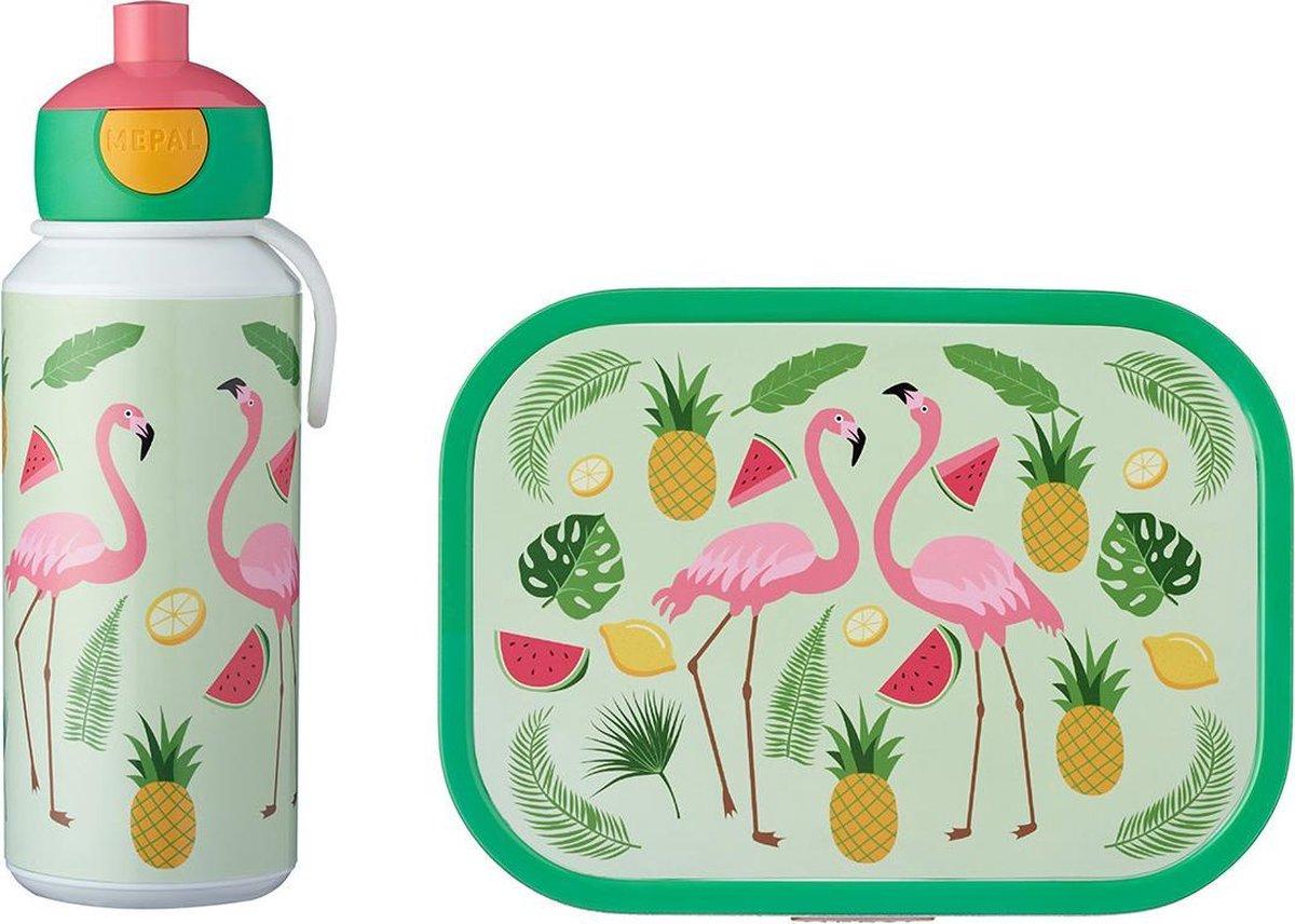 Mepal Drinkfles en Lunchbox - Voor kinderen - Campus Tropical Flamingo