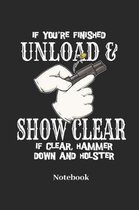 If You're Finished Unload and Show Clear If Clear, Hammer Down and Holster Notebook