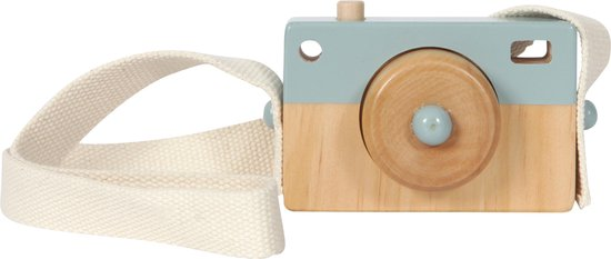 Little Dutch Speelgoed Houten Camera - Blauw