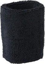 Zwart zweetbandje voor de pols