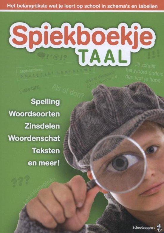 Spiekboekjes - Spiekboekje Taal - Gerard van de Garde |
