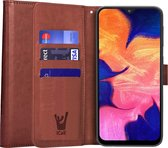 Samsung A10 Hoesje - Samsung Galaxy A10 Hoesje Book Case Leer Wallet Bruin - Hoesje Samsung A10