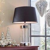 LOBERON Tafellamp Hillford zwart/zilverkleurig