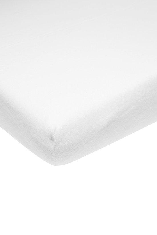 Meyco molton stretch hoeslaken - 70x140/150 cm - wit