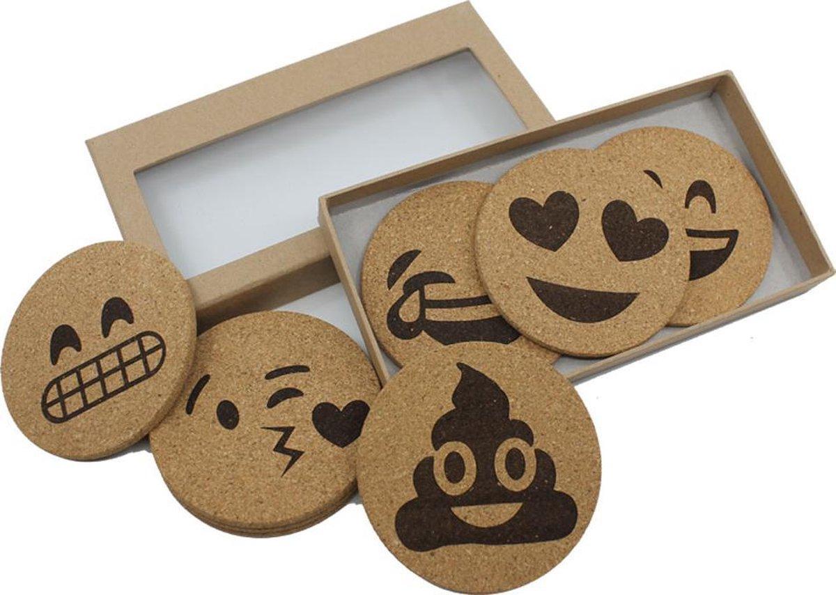Emoji Onderzetters - Handgemaakt - Luxe uitvoering - EmojiShop.nl