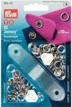Prym Jersey Drukknopen 10 stuks 10 mm zilver 390 107