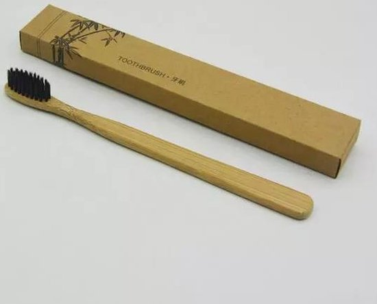 Bamboe Tandenborstel | Set van 1| Zacht/medium voor gevoelige tandvlees|Biologisch afbreekbaar| 100% organic |