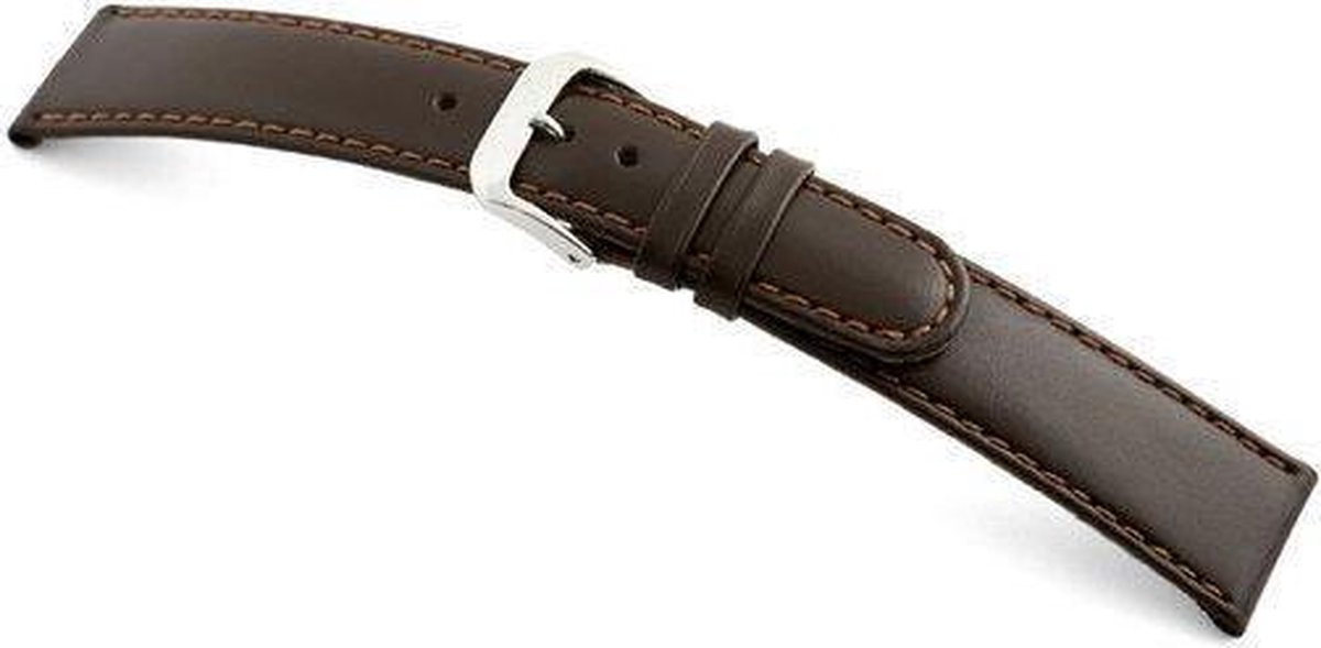 Rios1931 Horlogeband Arizona Donkerbruin - Leer - 20mm - Rios 1931