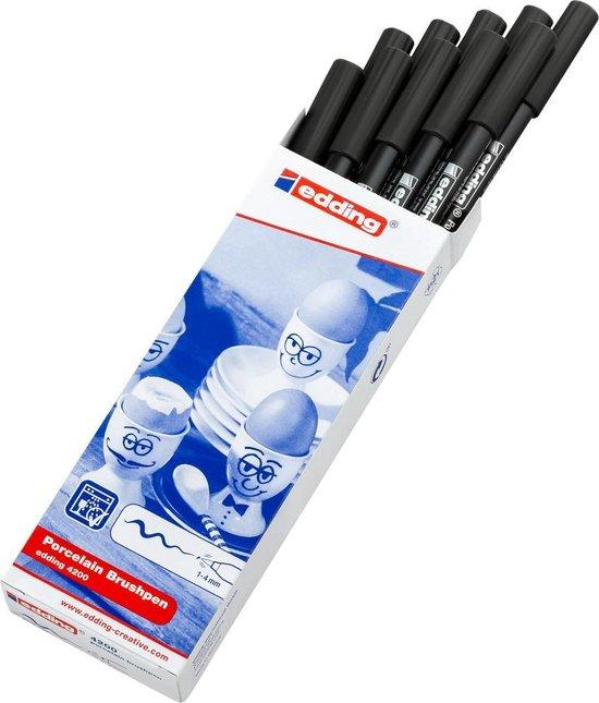 Edding 4200 porseleinstift zwart (001)
