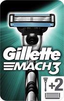 Gillette Mach3 - Scheersysteem + 2 Scheermesjes Mannen