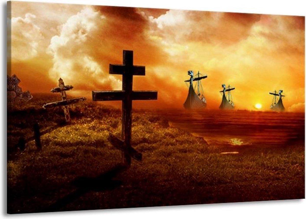 Canvas schilderij Natuur   Oranje, Geel, Bruin   140x90cm 1Luik
