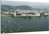 Canvas schilderij Uitzicht | Grijs, Groen, Wit | 120x70cm 1Luik