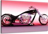 Canvas schilderij Motor   Paars, Roze, Zwart   140x90cm 1Luik