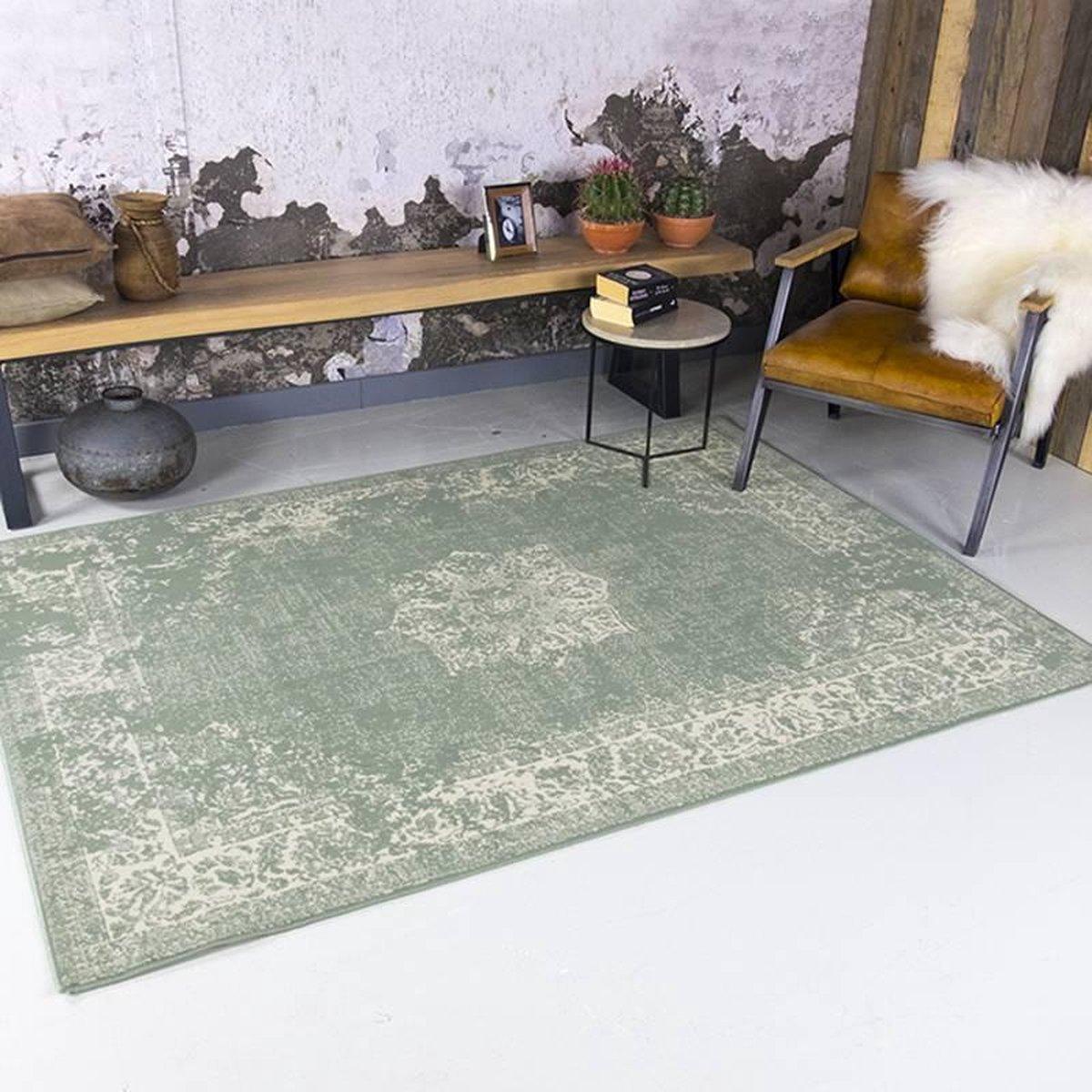 Vintage vloerkleed - Wonder groen 185 x 275cm - Fraai