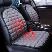 12V Verwarmde tweezitter Autostoel Kussenhoes Stoelverwarming Warmer Winter Autokussen Car Driver Verwarmd Zitkussen (Grijs)-