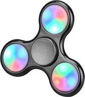 Spinners  Hand Spinner LED Licht in Metallic Zwart