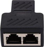 Netwerk kabel splitter (RJ45/ISDN) - Zwart