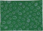 Hobbyvilt, A4 21x30 cm, dikte 1 mm, groen, blauw glitter cirkels, 10vellen