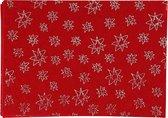 Hobbyvilt, A4 21x30 cm, dikte 1 mm, rood, zilver glitter sterren, 10vellen