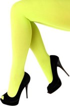 Dames Panty 60 denier microfiber neon-geel