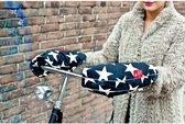 WOBS handwarmers voor op de fiets Bike Pogies - Stars Black & White
