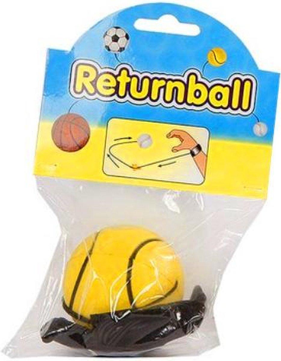 terugkaatsbal tennisbal junior 6 cm schuim geel