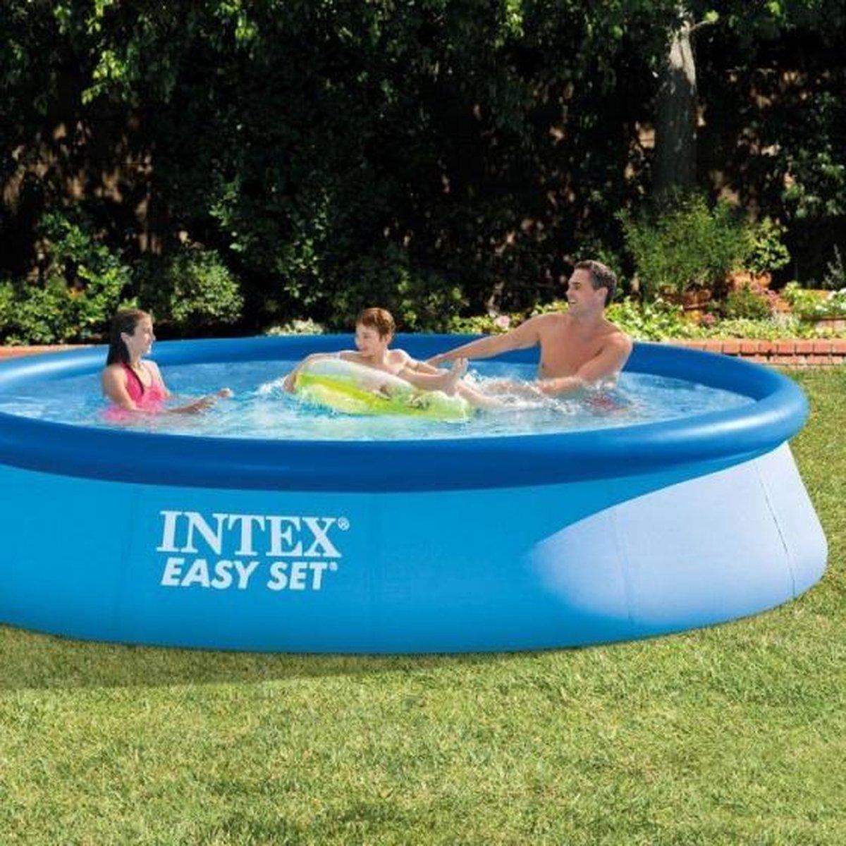 opblaaszwembad zonder pomp 28143NP Easy 396 x 84 cm blauw
