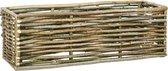 vidaXL Plantenbak verhoogd 120x40x40 cm hazelaarhout