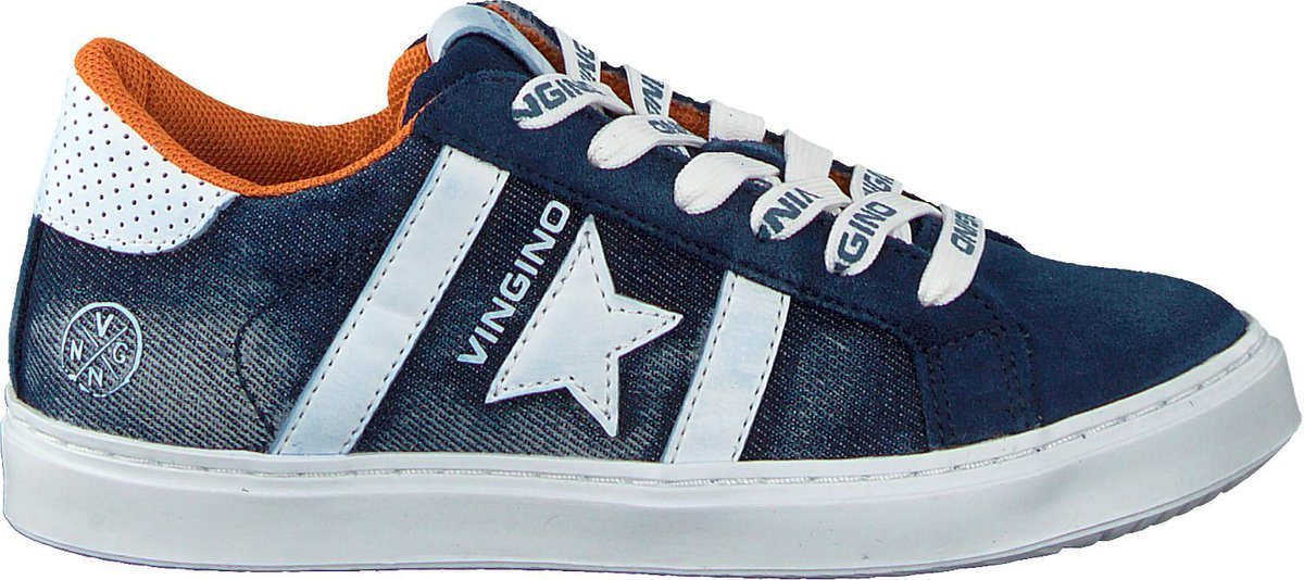 Vingino Jongens Lage sneakers Tiziano Star Blauw Maat 22