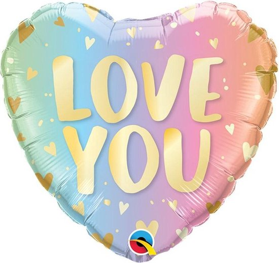 Folie ballon Hart 'Love You' - 46 cm