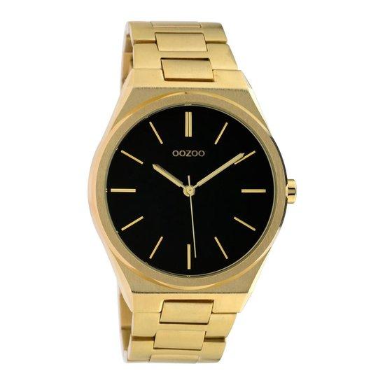 OOZOO Timepieces Goudkleurig/Zwart horloge (40 mm) – Goudkleurig