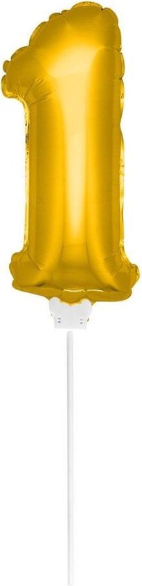 Foliecijfer Mini '1' Goud - 36 Centimeter