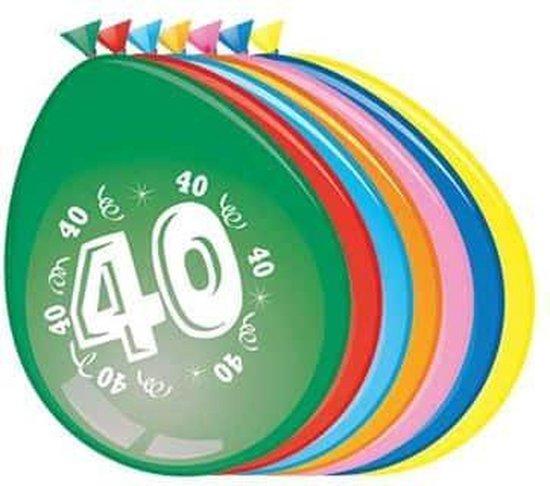 Ballonnen 40 jaar - 30cm - 8st