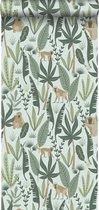 ESTAhome behang jungle apen mintgroen en donkergroen - 139073